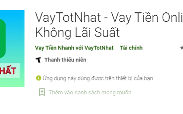 VayTotNhat – Ứng dụng vay tiền tiêu dùng 5 sao