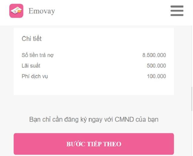 Cách vay tiền tại ứng dụng Emovay